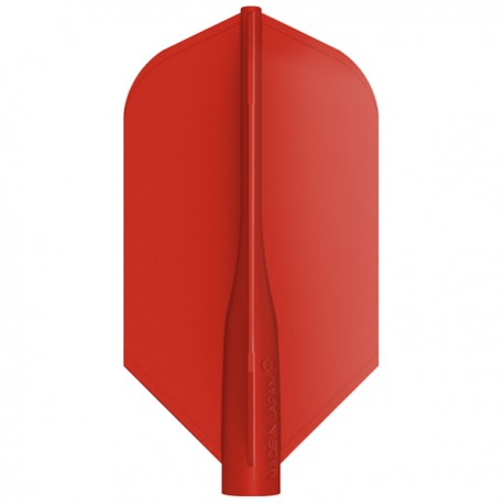 Penas 8-FLIGHT Slim vermelha. 3 Uds.