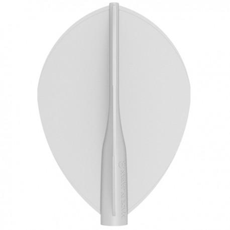 Penas 8-FLIGHT Oval brancas. 3 Uds.