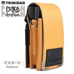 DART CASE TRINIDAD PLAIN Croco Mustard
