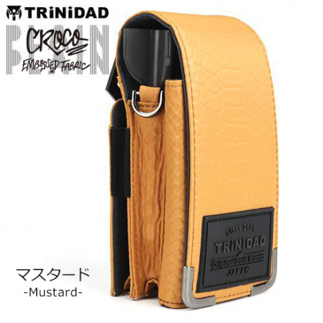 ETUI TRINIDAD PLAIN Croco Mustard