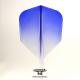 Penas CONDOR AXE Trasparente azul shape curta. 3 Uds.