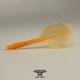 Penas CONDOR AXE Neon Orange shape longa. 3 Uds.