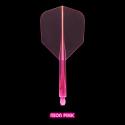 Penas CONDOR AXE Neon Pink shape longa. 3 Uds.