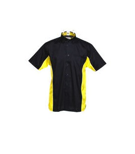 SPORT DART SHIRT. Black-Yellow