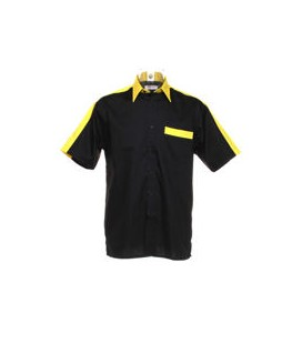 PROFESSIONAL DART SHIRT. Black-Yellow