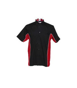 SPORT DART SHIRT. Black-Red