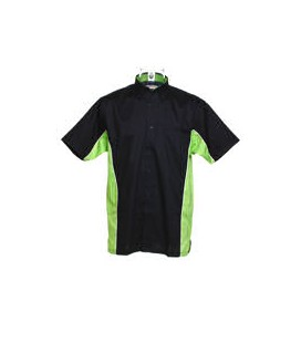 SPORT DART SHIRT. Black-Lime