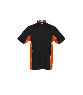 SPORT DART SHIRT. Black-Orange