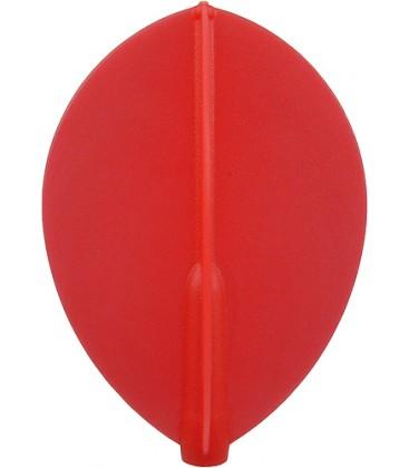 Penas FIT FLIGHT oval vermelha. 6 Uds.