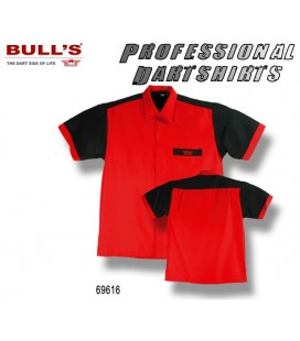 BULLS Dart Team Shirt. Red - Black
