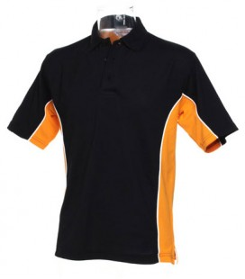 DARTS POLO. Black-Orange