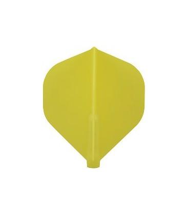 Ailettes FIT FLIGHT Standard jaune. 6 Uds.