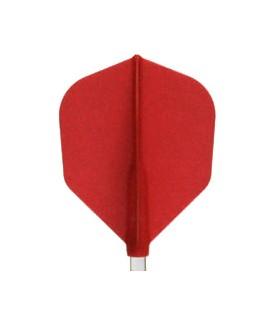 Plumas FIT FLIGHT Shape roja. 6 Uds.