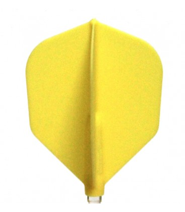 Plumas FIT FLIGHT Shape amarilla. 6 Uds.