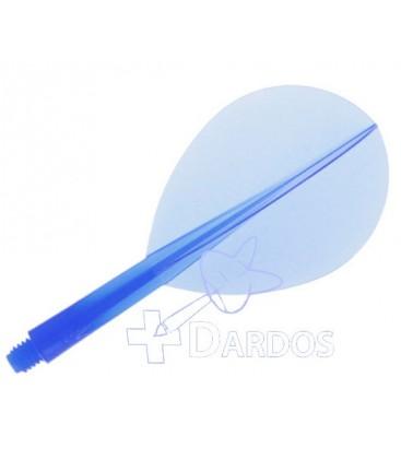 Plumas CONDOR Azul pera corta. 3 Uds.