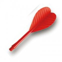 Darts All In One Durable Plastic Flights Red. 100 U.