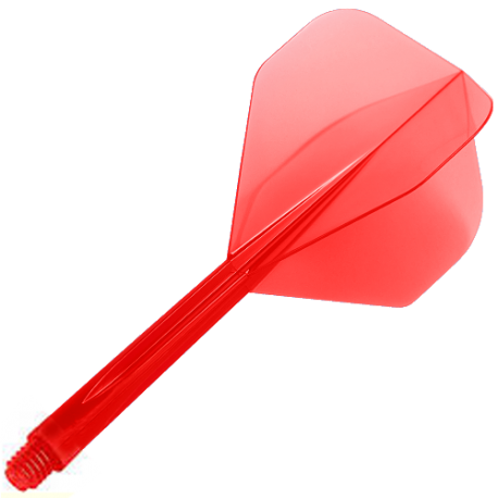 Plumas CONDOR Roja standard larga. 3 Uds.