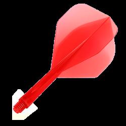 Plumas CONDOR Roja Standard corta. 3 Uds.