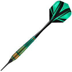 HARROWS VIVID BRASS GREEN. 18gR SOFTIP DARTS