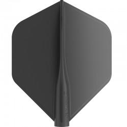 Plumas 8-FLIGHT Standard negra. 3 Uds.