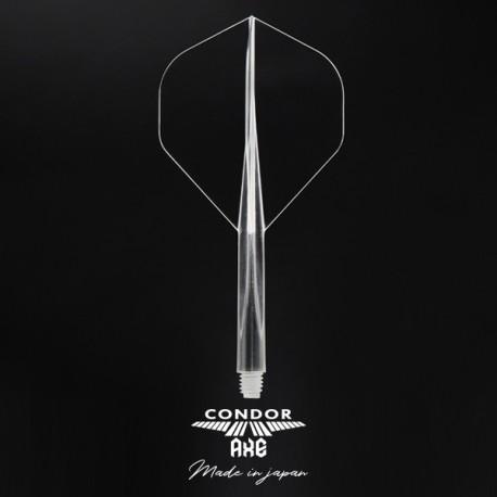 Plumas CONDOR AXE Transparente standard mediana. 3 Uds.